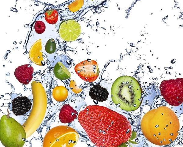 abbronzatura con frutta e verdura